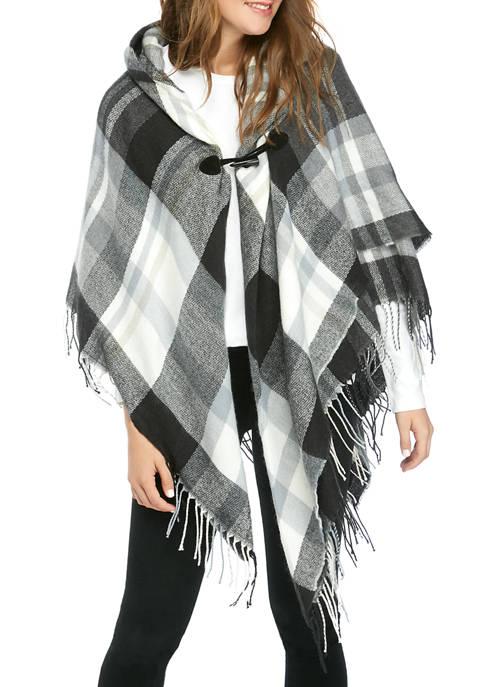 New Directions® Southwest Plaid Asymmetrical Wrap