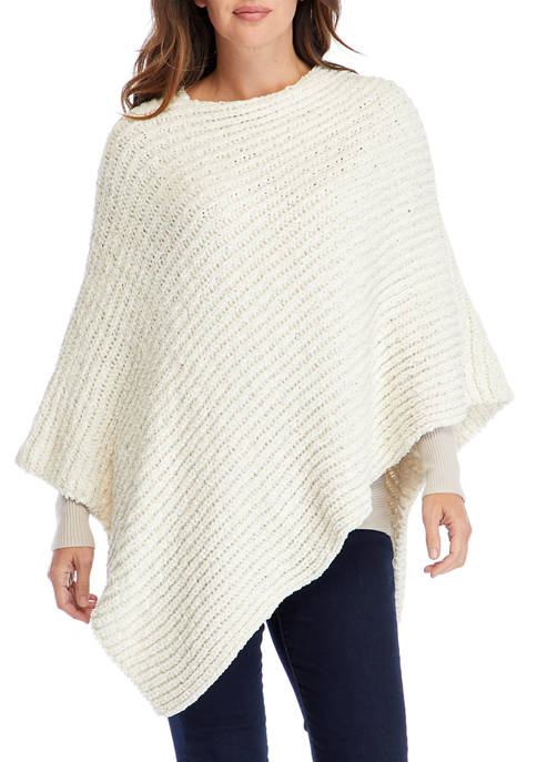 New Directions® Chenille Poncho
