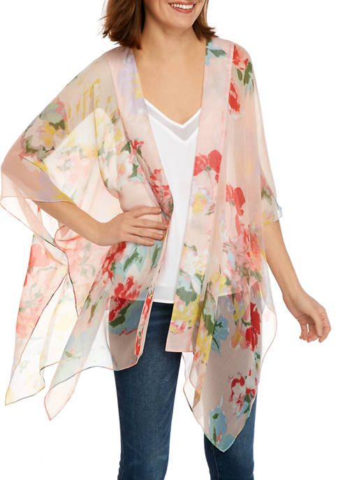 Accessory Street Abstract Floral Topper