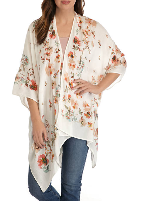 Accessory Street Floral Print Topper