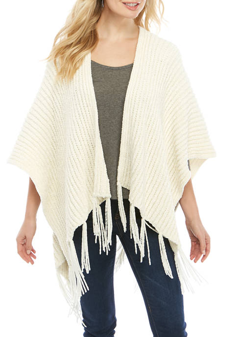 New Directions® Fringed Chenille Ruana