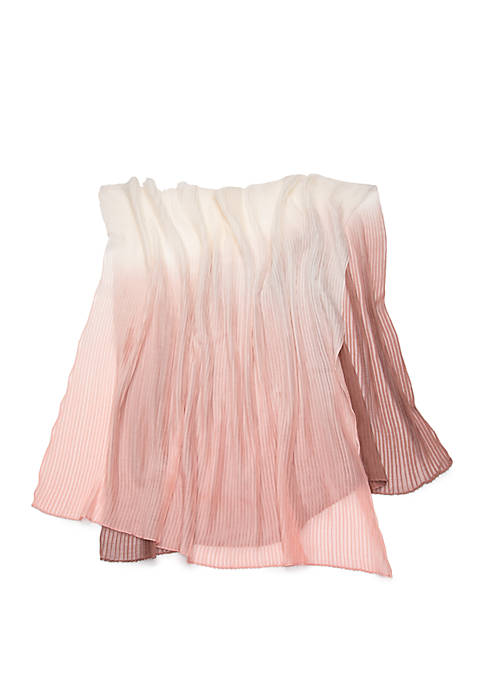 Ombre Pleated Scarf