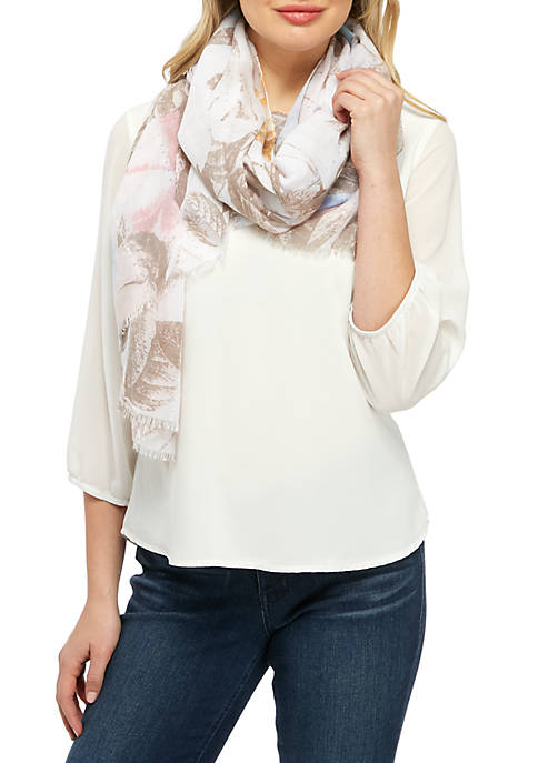 Kim Rogers® Floral Sequin Scarf