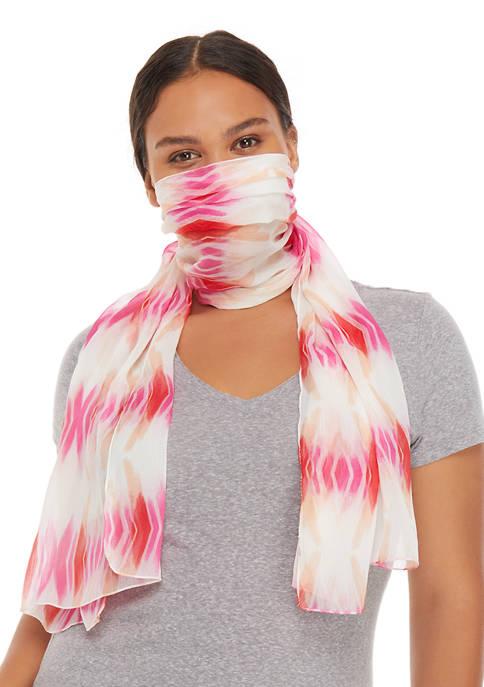 Kim Rogers® Geometric Tie Dye Chiffon Topper