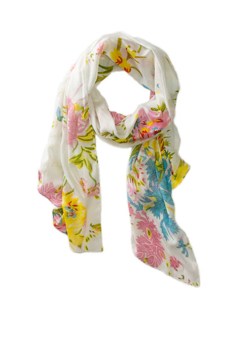 Kim Rogers® Painted Floral Neck Wrap