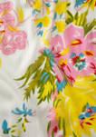 Painted Floral Neck Wrap