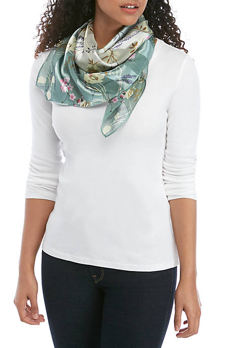 Kim Rogers® Whimsy Floral Square Scarf