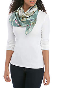 f2532bae827 ... Kim Rogers® Whimsy Floral Square Scarf