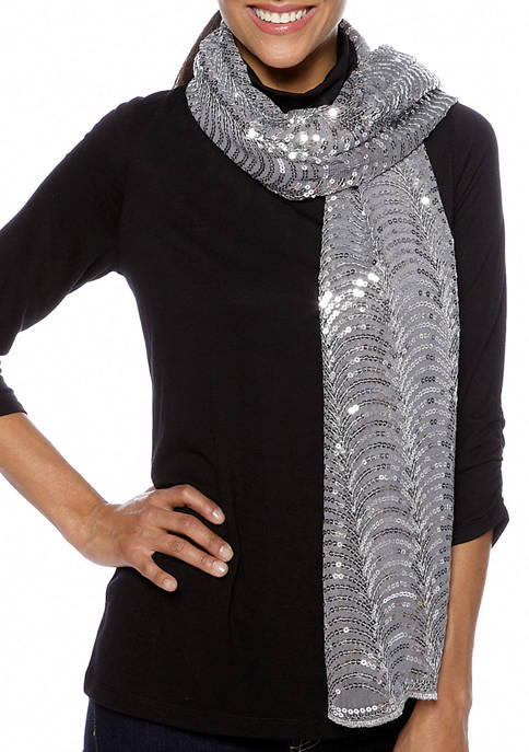 Betsey Johnson Wavey Sequin Evening Wrap