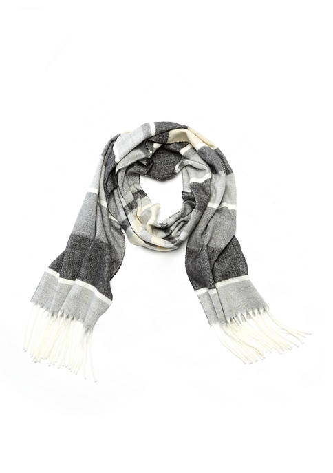 Cejon Color Block Striped Scarf