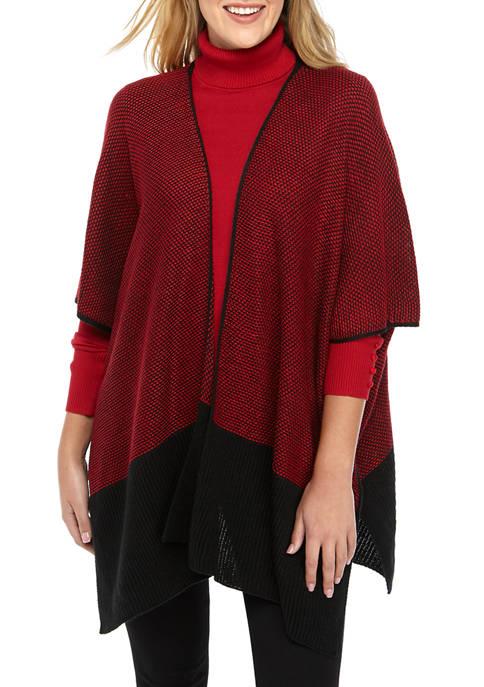 Tweed Colorblock Bottom Ruana