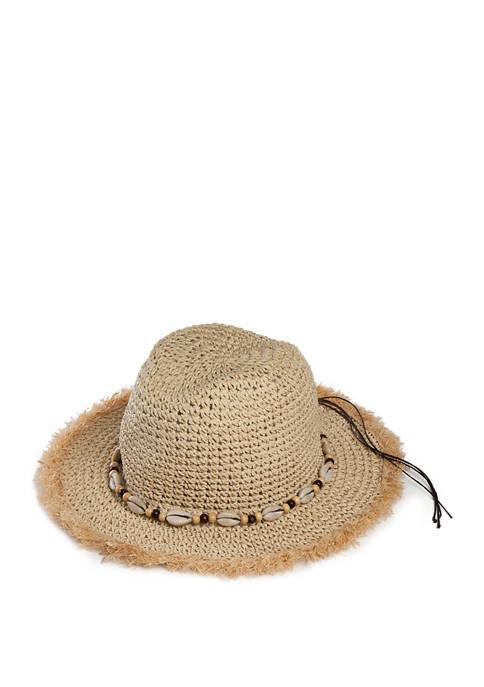 Betsey Johnson Shell Shock Panama Hat