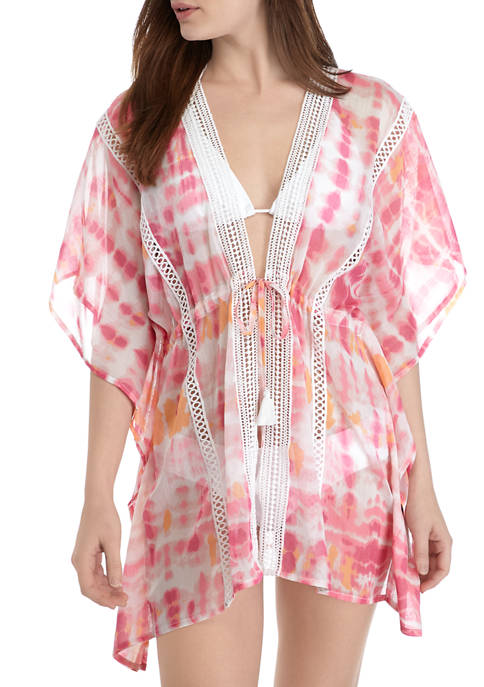 Betsey Johnson Tie Dye Swim Cover Up