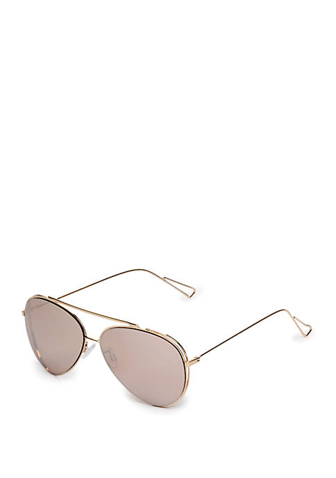 Metal Aviator Frame With Vented Sides Sunglasses