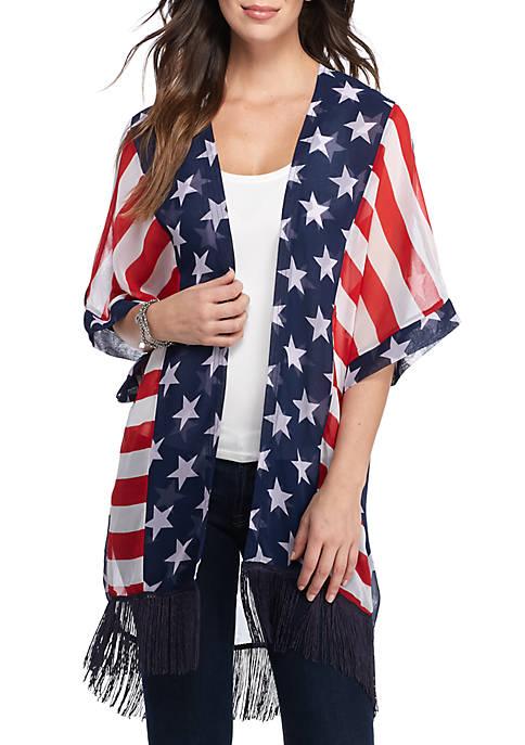 Americana Kimono Topper