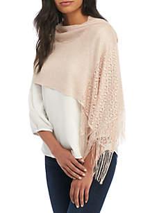 Metallic Crochet Wrap