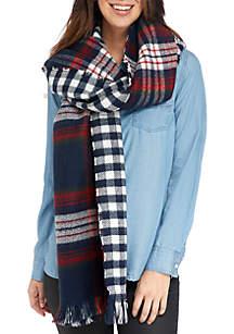 Plaid Blanket Wrap
