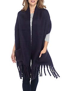 Super Soft Muffler Scarf With Pocket