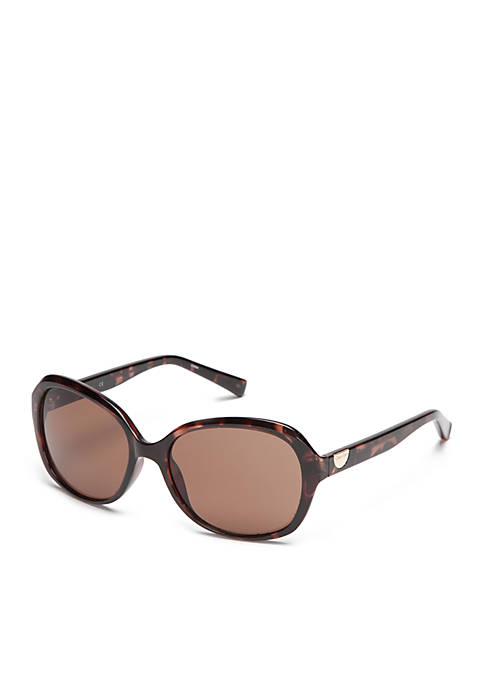 Rectangle With Logo Button Sunglasses