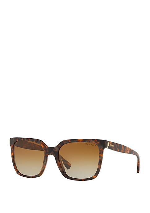 Ralph Lauren Marble Square Frame Sunglasses