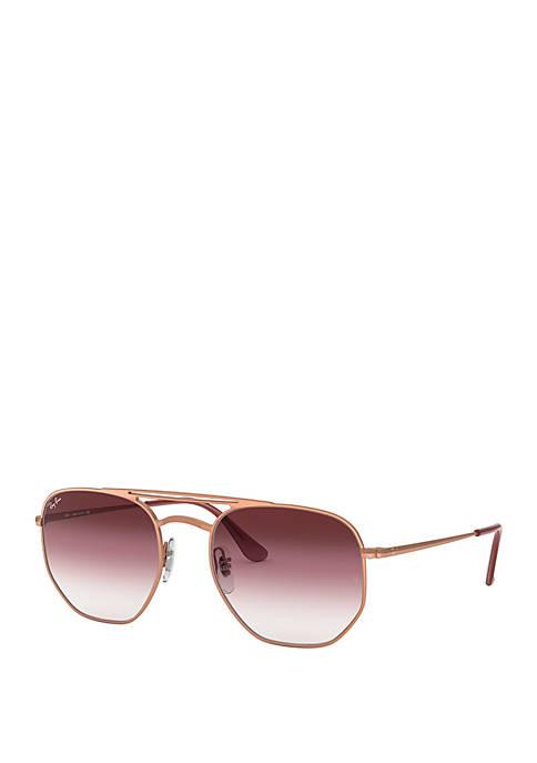 Ray-Ban® Hexagonal Double Bridge Sunglasses
