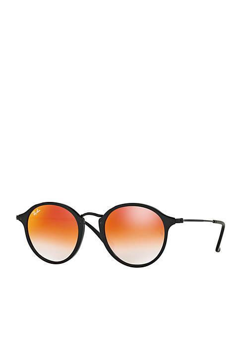 Ombre Flash Round Sunglasses