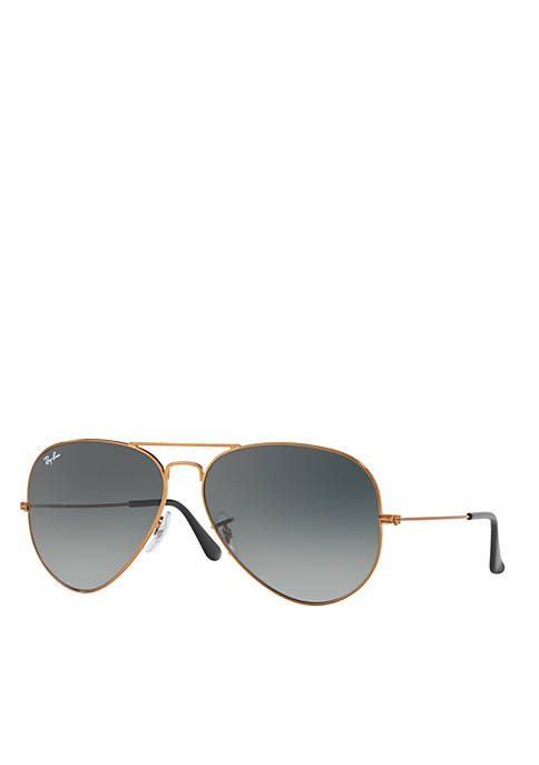 Ray-Ban® Classic And Sleek Large Metal Aviator Sunglasses