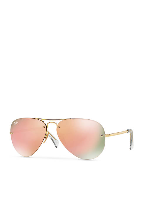 Flash Mirror Aviator 59-mm. Sunglasses