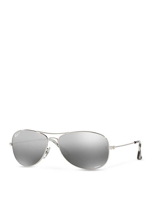 Ray-Ban® Chromance Polar Aviator Sunglasses