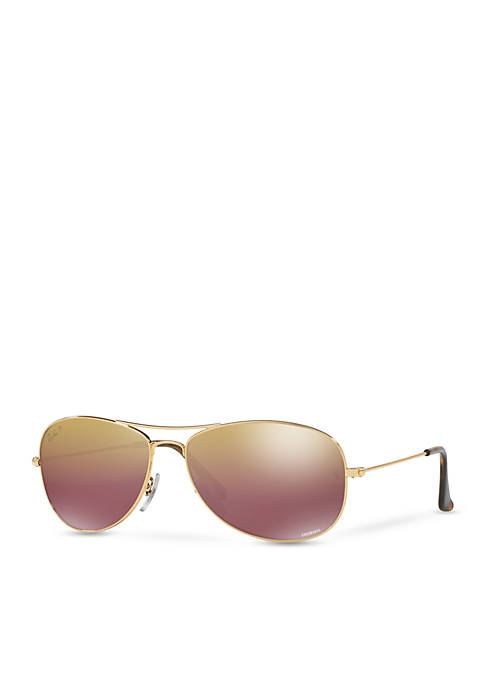 Ray-Ban® Chromance Polar Aviator Sunglasses