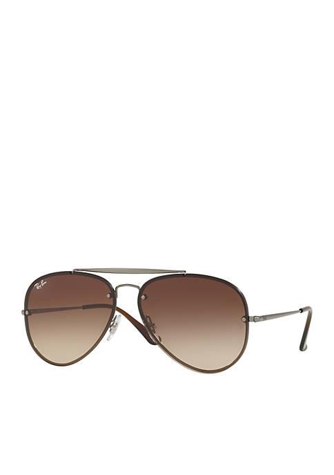 Ray-Ban® Brow Bar Aviator Sunglasses