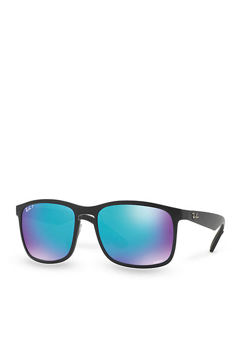 Ray-Ban® Chromance Polar Square Sunglasses