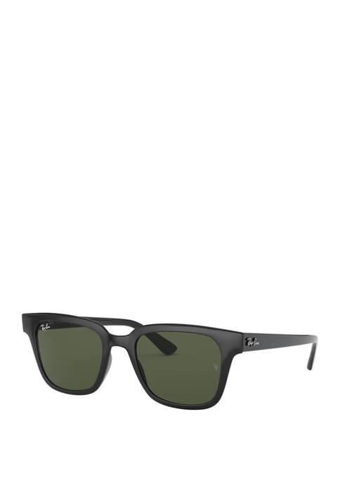 Black Plastic Wayfarer Sunglasses