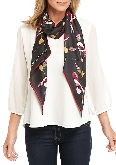 Ralph Lauren Floral Oblong Silk Scarf