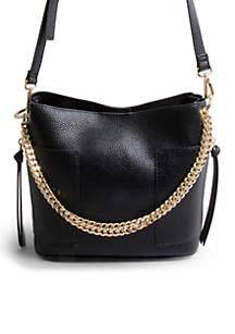 Bettie Chain Small Bucket Bag