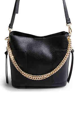 b3a2bd8c23b Steve Madden Bettie Chain Small Bucket Bag ...