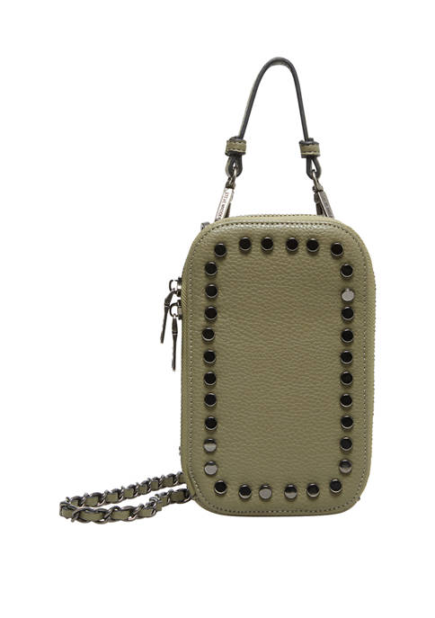 Battery Stud Phone Crossbody Bag