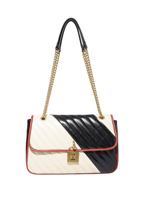 Quilted Color Block Shoulder Bag