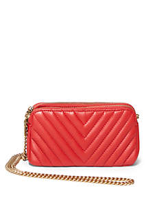 Gina Chevron Quilted Crossbody