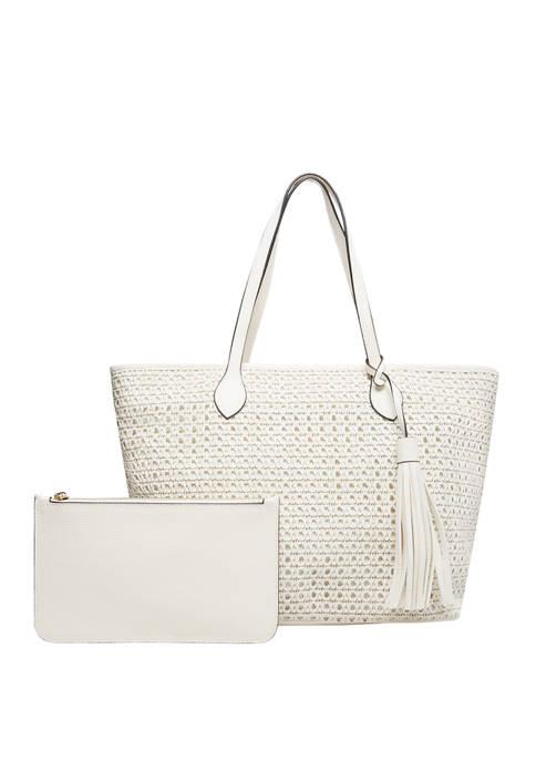 Woven Polyurethane Tote Bag
