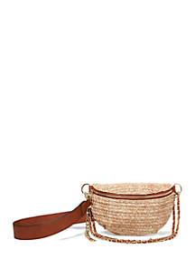 Steve Madden Woven Straw Belt Bag