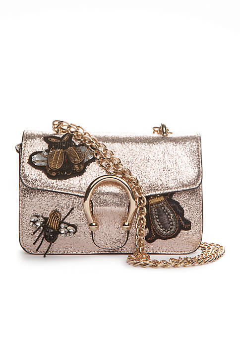 Steve Madden Bsyra Small Flapover with Chain Strap