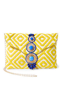 Steve Madden Bzada Resort Brocade Clutch