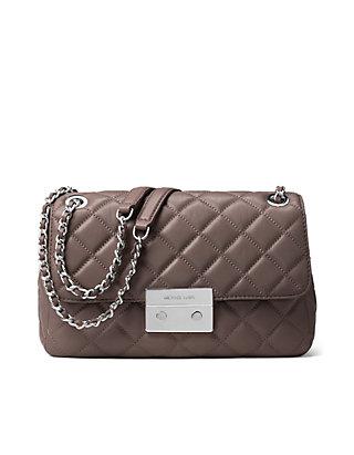 64bb0b9d7a91 MICHAEL Michael Kors. MICHAEL Michael Kors Sloan Large Quilted-Leather  Shoulder Bag