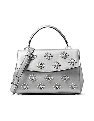 7e7d5bd3e004 MICHAEL Michael Kors. MICHAEL Michael Kors Ava Extra-Small Jewel Leather  Satchel
