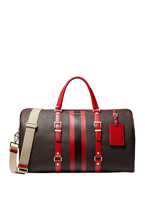 Bedford Travel XL Logo Stripe Weekender Bag
