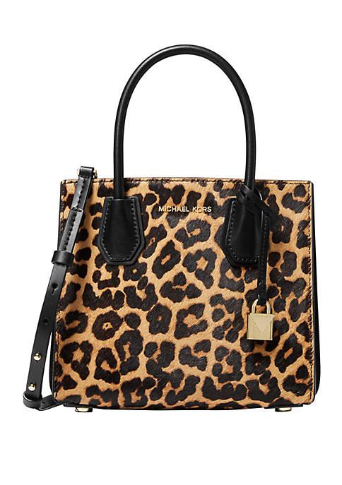 MICHAEL Michael Kors Mercer Medium Leopard Calf Hair