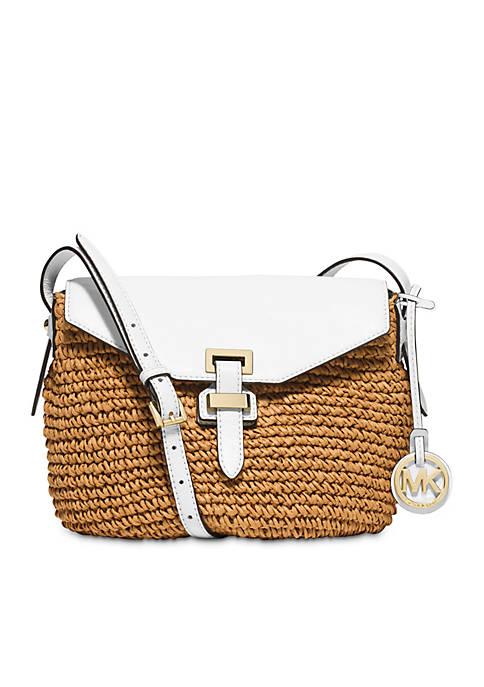 1a69ea24821e MICHAEL Michael Kors Naomi Medium Straw Messenger Bag | belk