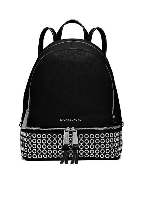e9d6752ded34 ... low cost michael michael kors. michael michael kors rhea zip medium  grommet backpack 99e4e 92bf7