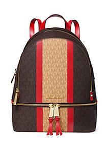 MICHAEL Michael Kors Rhea Medium Logo Backpack